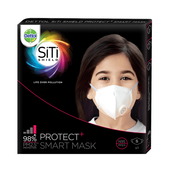 Dettol siti shield protect plus n95 anti pollution smart mask s