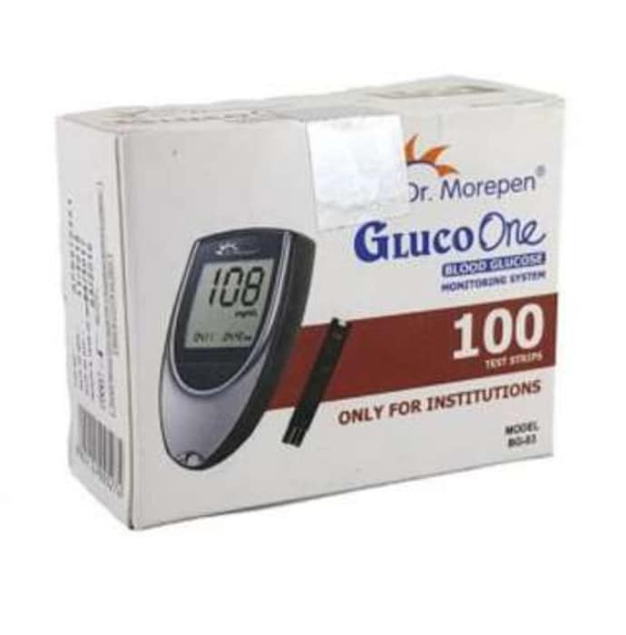 Dr morepen gluco one bg 03 kit with 100 strips