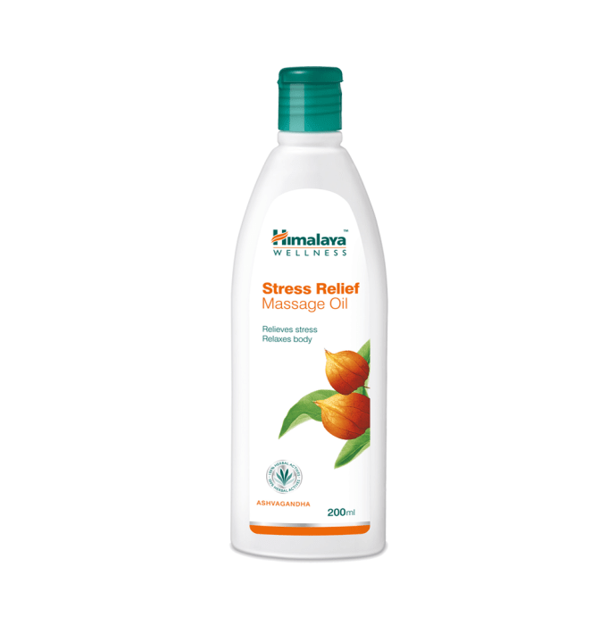 Himalaya wellness pure herbs stress relief massage oil