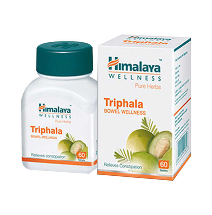 Himalaya wellness pure herbs triphala bowel wellness tablet pack of 3