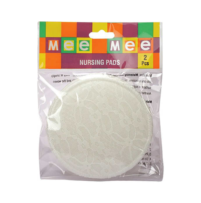 Mee mee washable cotton maternity nursing breast pads cream