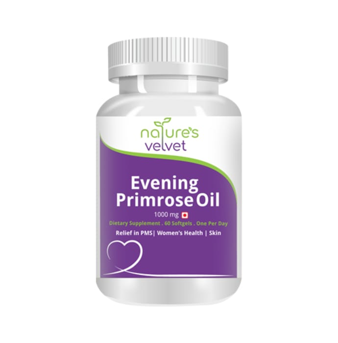 Natures velvet lifecare evening primrose oil 1000mg capsule