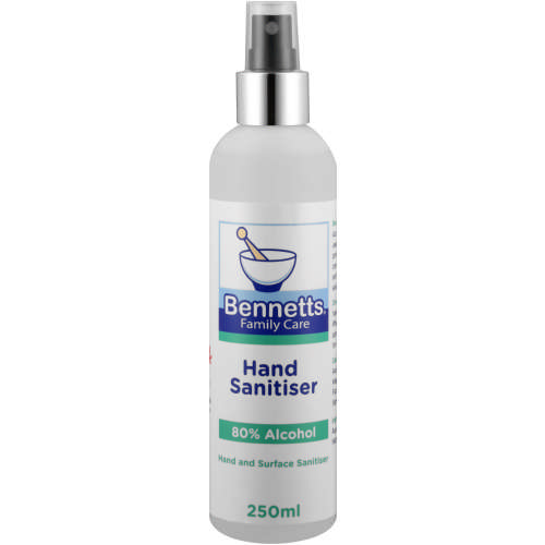 BENNETTS HAND SANITISER 250ML