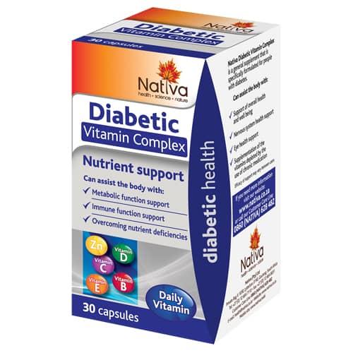 NATIVA DIABETIC COMPLEX 30CAP