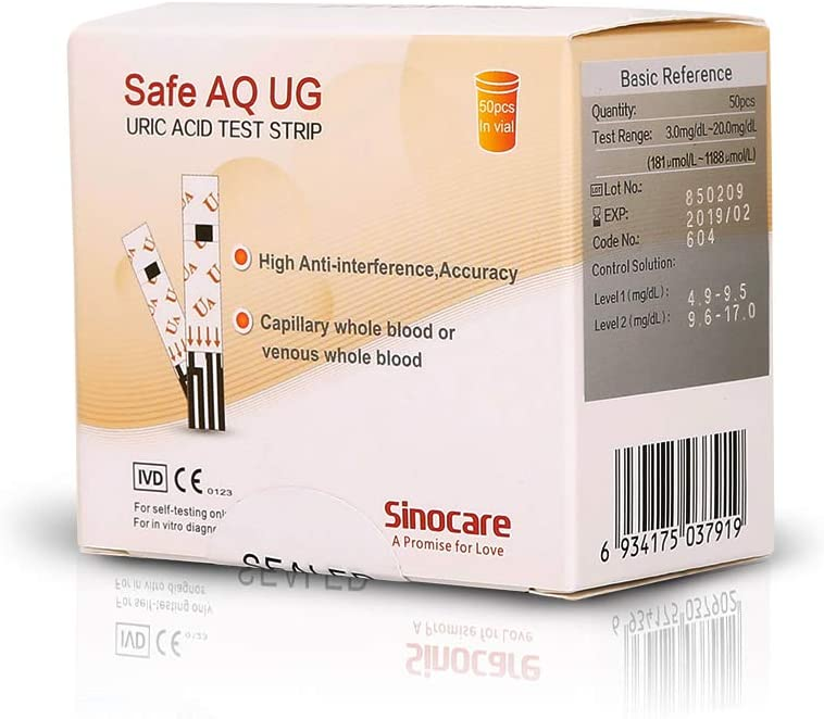 SAFE AQ URIC ACID STRIPS 50S