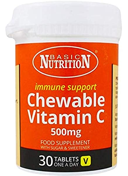 VITAMIN C CHEWABLE 500MG TABLETS 30's BN